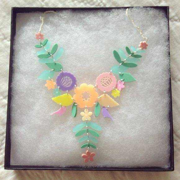 Tatty Devine Mexican Embroidery Necklace