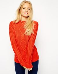 Red Cable Sweater