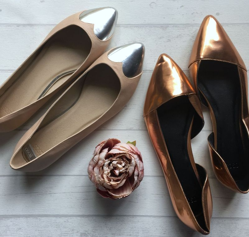 Metallic Flat Shoes ASOS