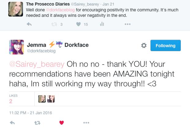 Dorkface Blog Positivity