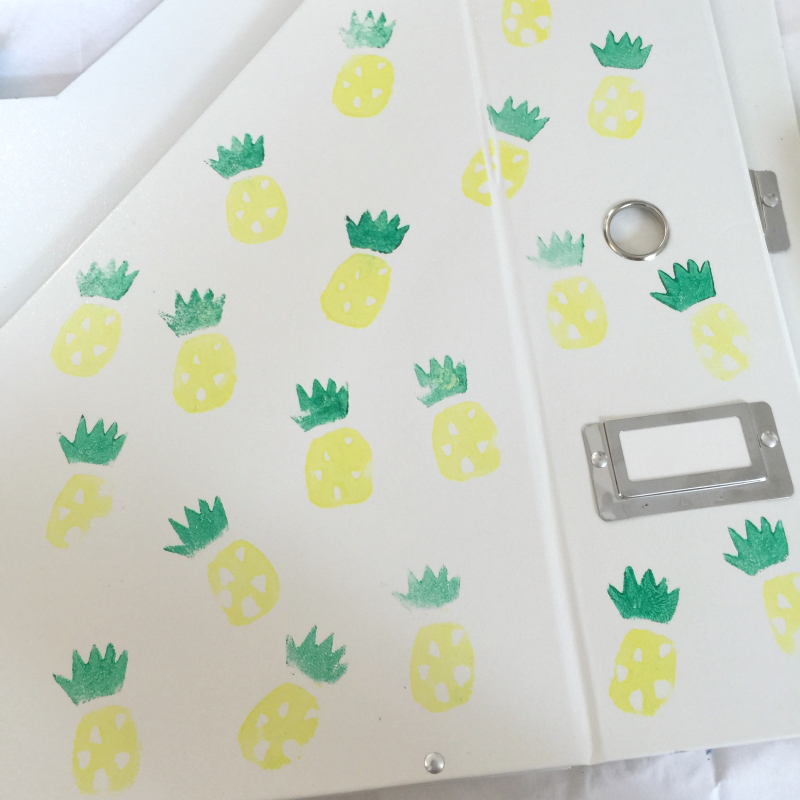 Pineapple Print Stationery