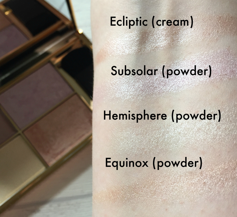 Sleek Solstice Highlighter Swatches