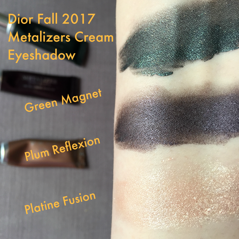 Dior Fall 2017 Metallics Swatches