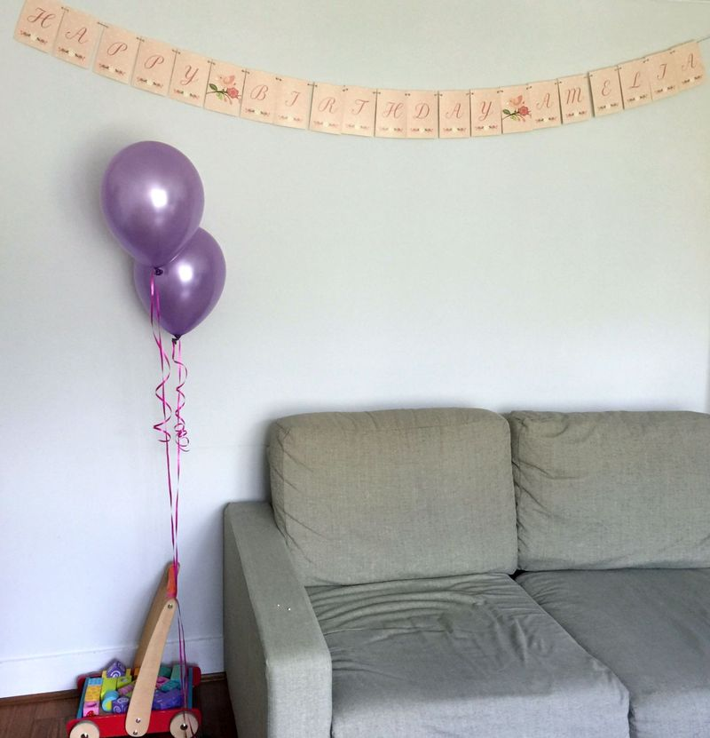 Girls Birthday Party Bunting