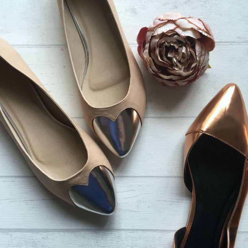 Metallic Flat Shoes For Autumn