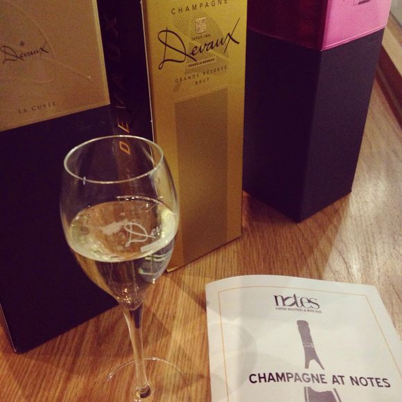 Champagne Tasting at Notes