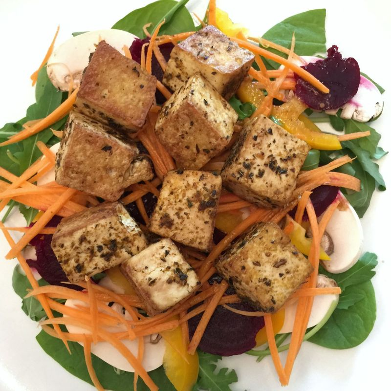 Spicy Marinated Tofu Salad