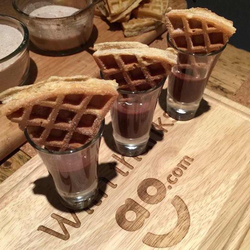 AO.com Waffle Maker Chocolate Ganache