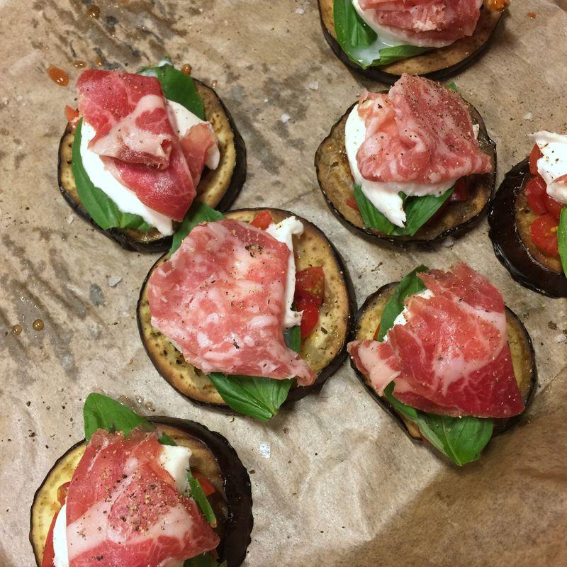 Aubergine Italian Ham
