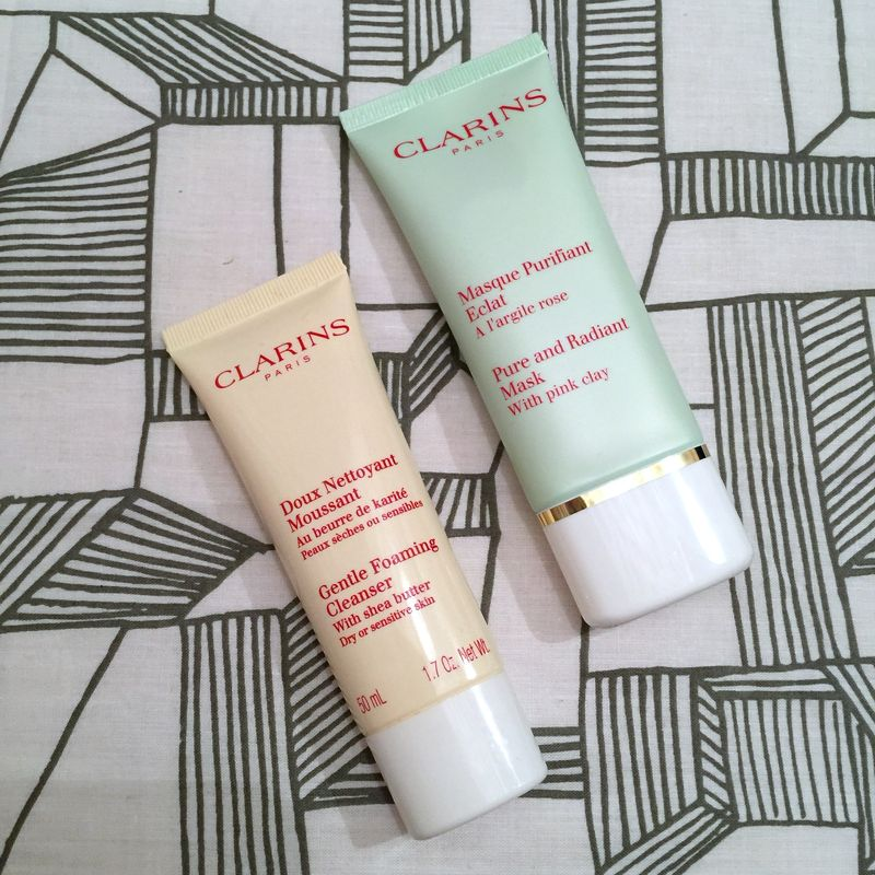Clarins Pink Clay Mask Shea Butter Cleanser