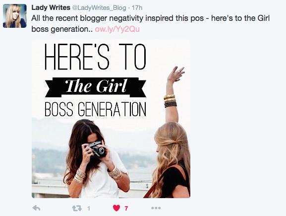 A Lady Writes Girl Boss