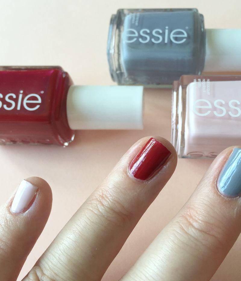 Essie Nail Polish Grey Red Pink