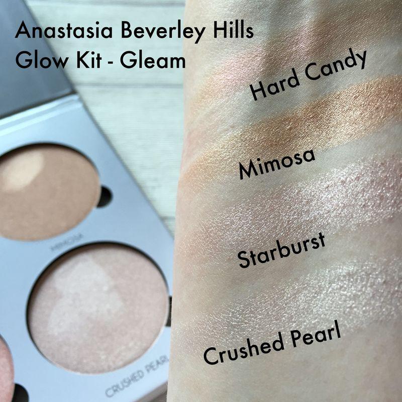 Anastasia Beverley Hills Glow Kit Swatches