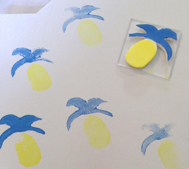 Block Print Pineapple