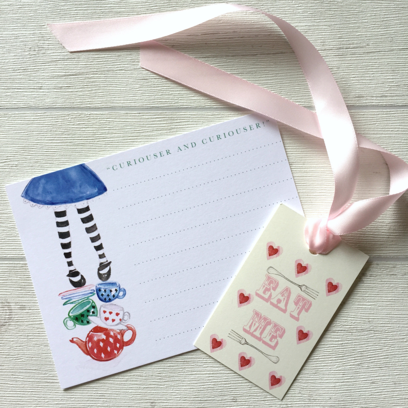 Alice In Wonderland Stationery