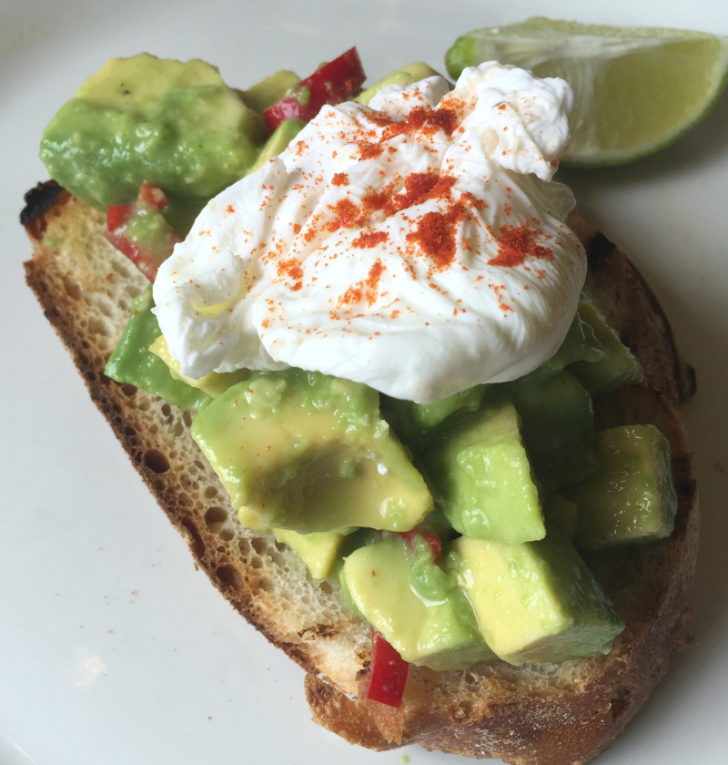 Avocado on toast London Brunch