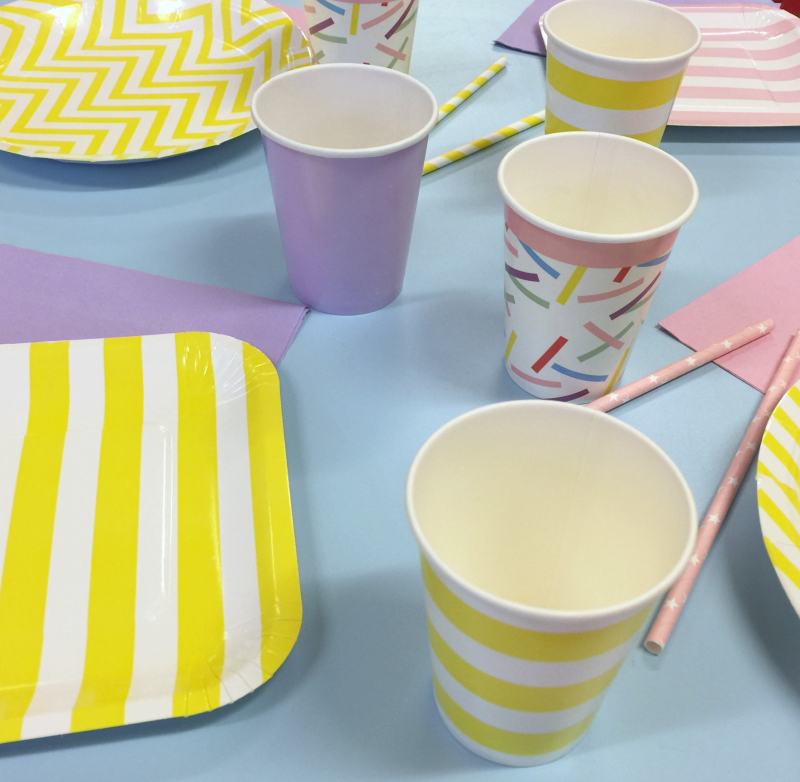Cute Party Plates Straws